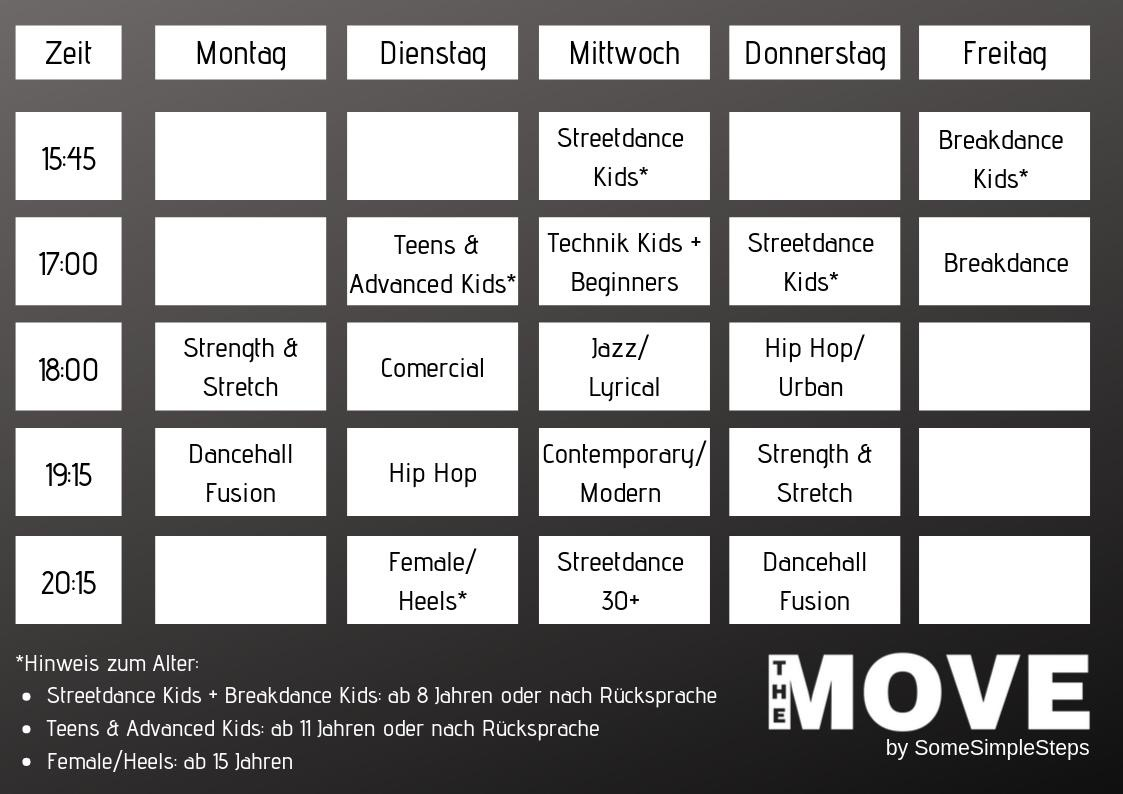The Move Schedule